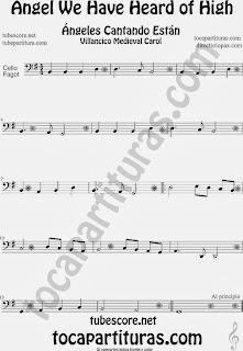 Partitura de para Violonchelo y Fagot Villancico Christmas Carol Sheet Music for Cello and Bassoon Music Scores