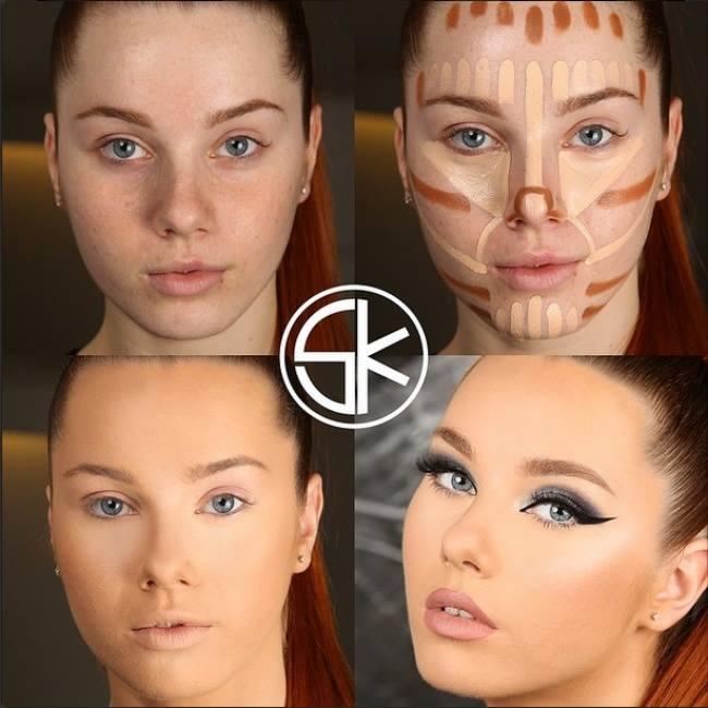 Фото как наносить правильно макияж на