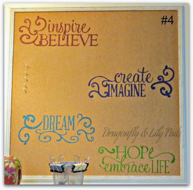 DIY Inspiration Board, Silhouette Cameo, Stencils, Contact Paper, Cork Board