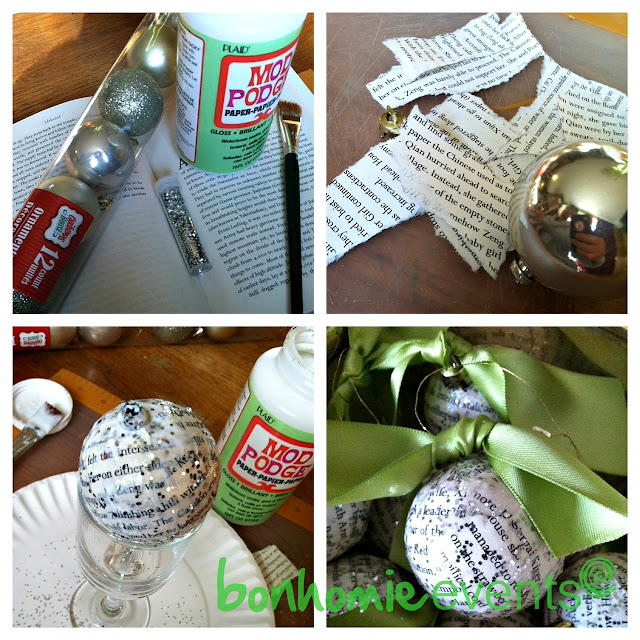bookprint ornament how to by bonhomieEVENTS