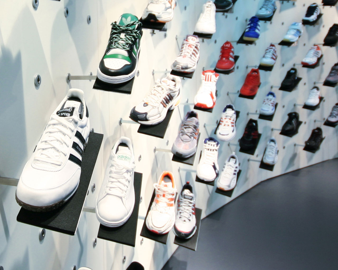 Adidas Shoes Display