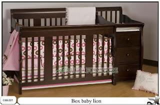 Tempat tidur baby box balita lion