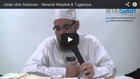 Ustaz Idris Sulaiman – Senarai Malaikat & Tugasnya