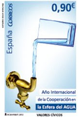 ESPAÑA: El  Año  Internacional de la Cooperación en la Esfera del  Agua, protagonista de un sello