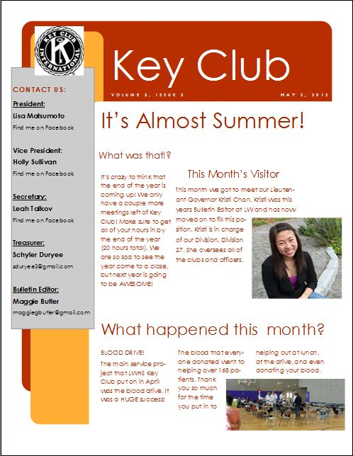 may newsletter template .