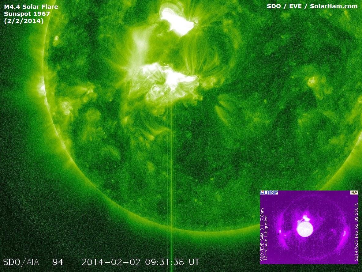 LLAMARADA SOLAR CLASE M4.4, 02 DE FEBRERO 2014