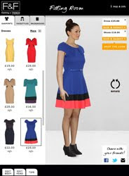 Tesco clothing introduces F&F virtual fitting room