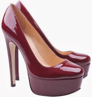 Luiza Barcelos inverno 2014 Sapato salto alto pump em verniz vinho