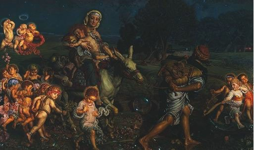 TriumphOfTheInnocents-WilliamHolmanHunt-1883-4.jpg (513×303)