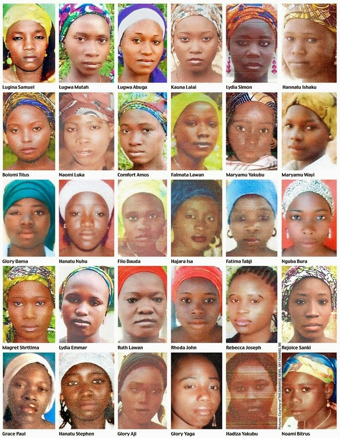 Finally! These are the faces and names of the abducted Chibok Girls