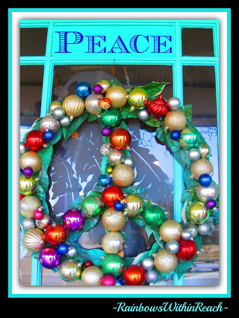photo of: Peace Symbol Christmas Wreath