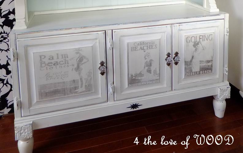 4 the love of wood beach graphics seaside cabinet transfers for Furniture transfers