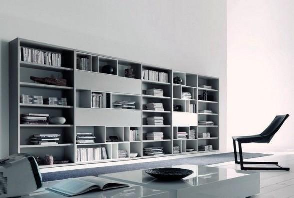 Modelos de salas de estar con bibliotecas c mo arreglar for Sala de estar futurista