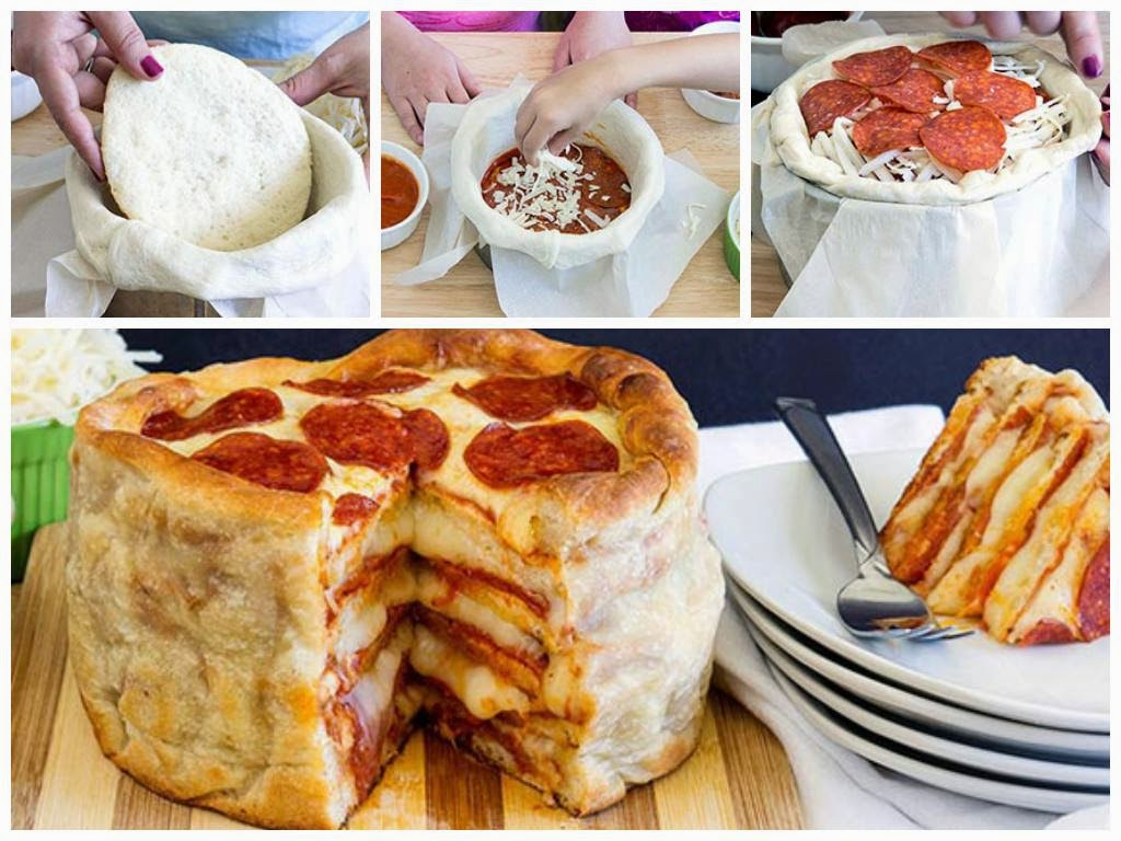 Pepperoni Pizza Cake Recipe