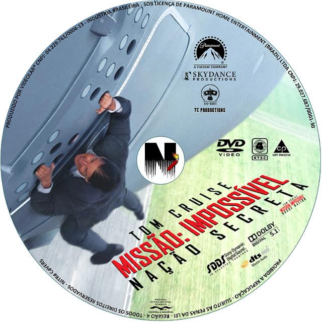Label DVD Missão Impossível Nação Secreta