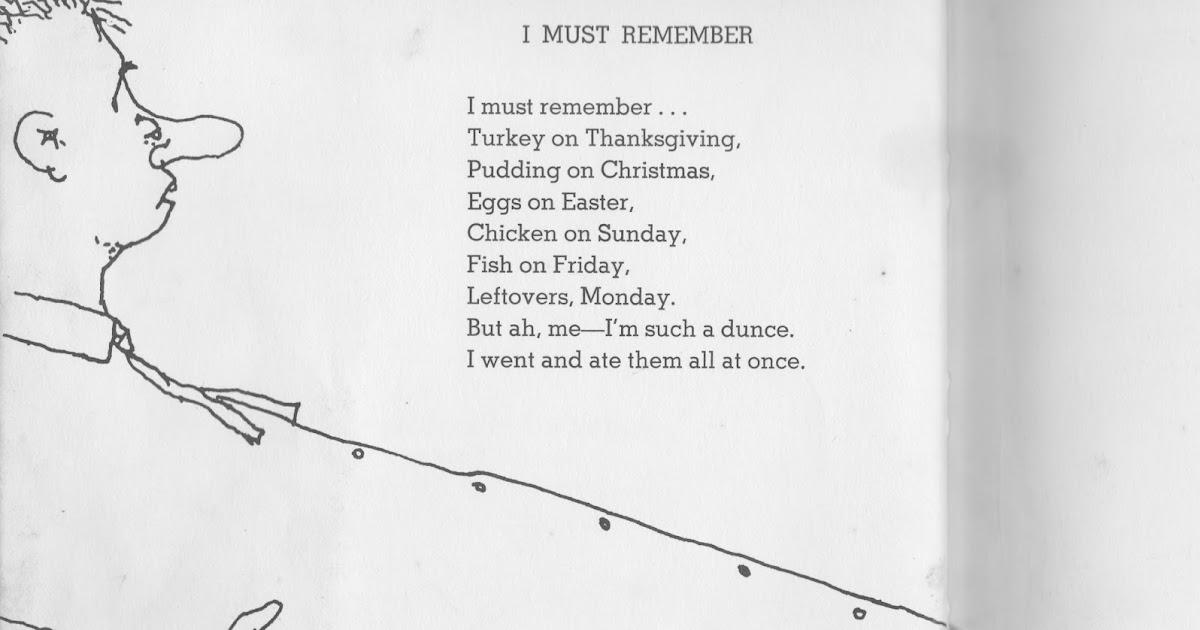 Shel Silverstein Rocks!: I Must Remember.