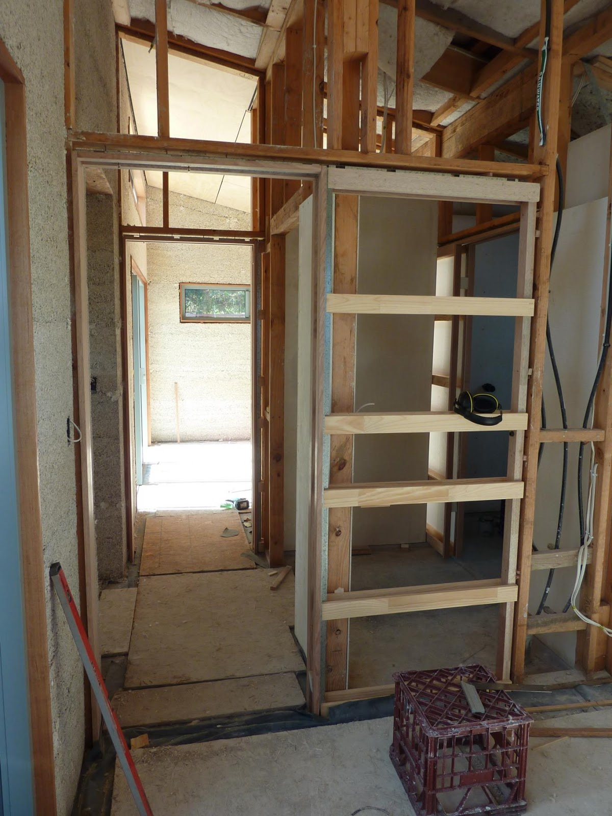 Culburra hemp house installing cavity sliding doors first cavity sliding unit installed vtopaller Choice Image
