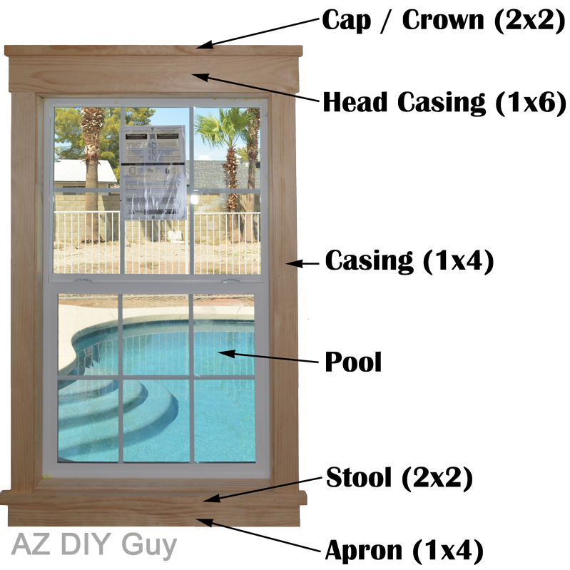 Az diy guy 39 s projects super easy diy craftsman style - Craftsman style window trim interior ...