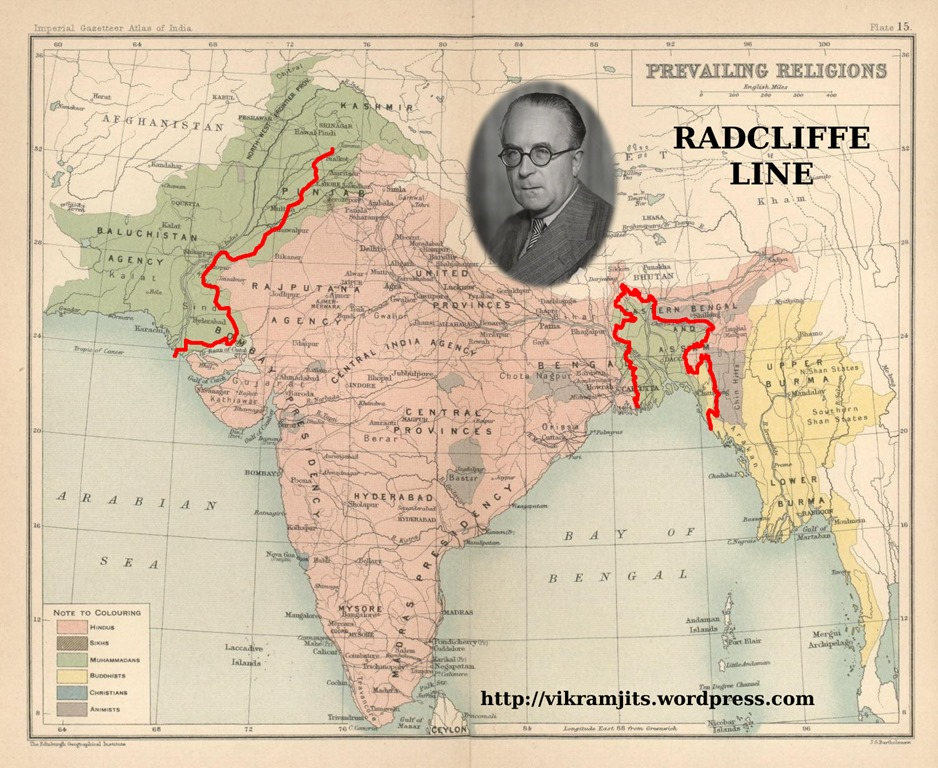 Image result for रेडक्लिफ रेखा