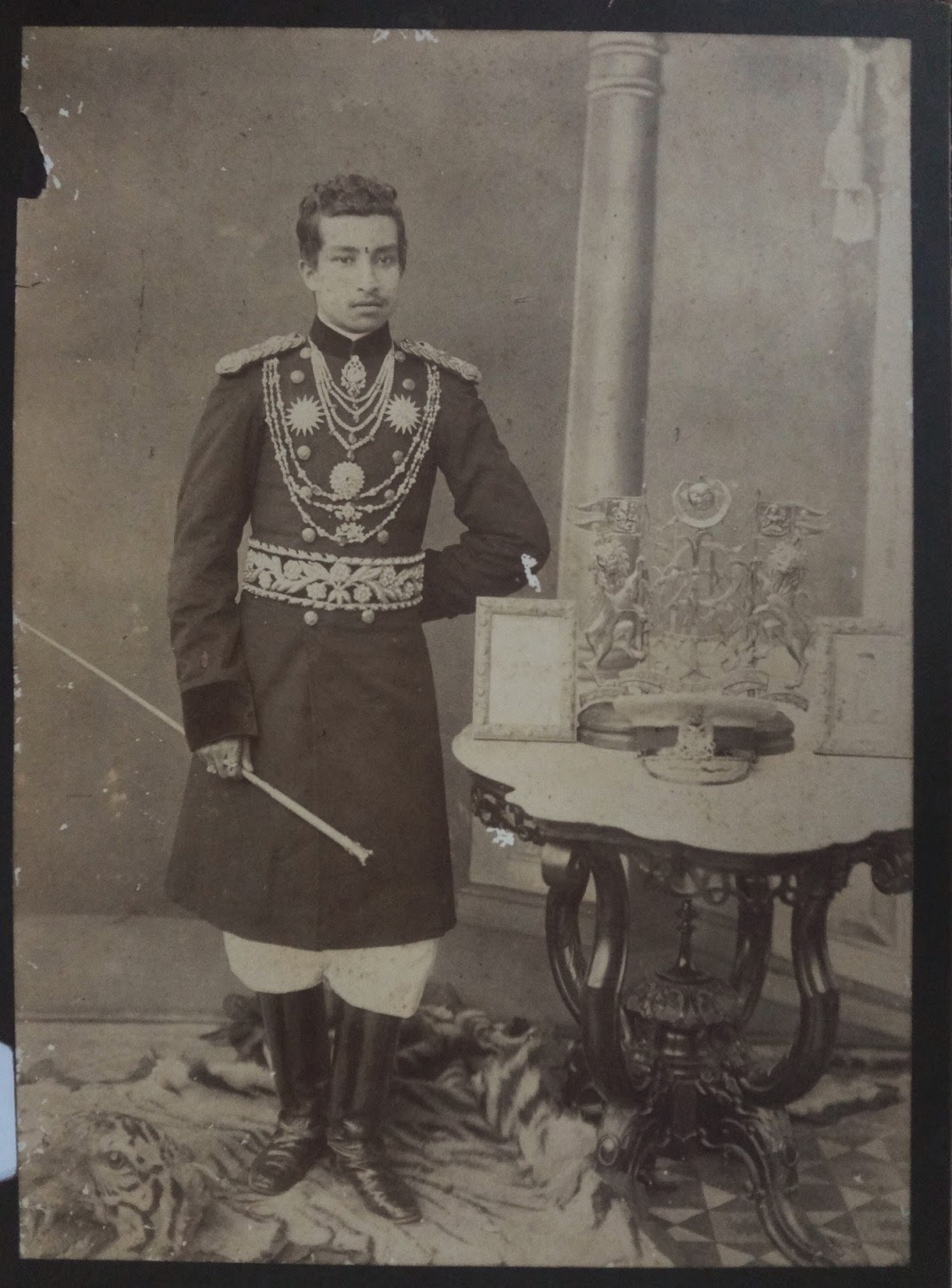 Vintage Photograph of a Nepal Prince