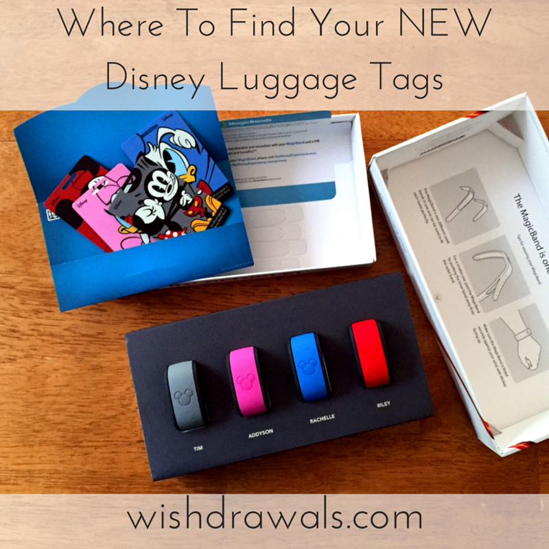 wishdrawals travel where to find your new disney luggage tags. Black Bedroom Furniture Sets. Home Design Ideas