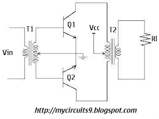Class B push Pull amplifier circuit