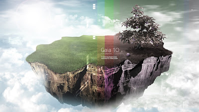 Living Gaia Abstract HD Wallpaper 1080p