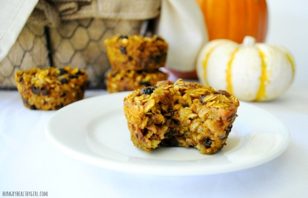 Baked Pumpkin Oatmeal Muffins #pumpkin #oats #oatmeal #Fall #Autumn