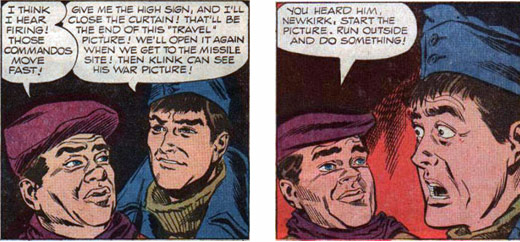Hogan's Heroes 4' two panels of Lebeau and Newkirk