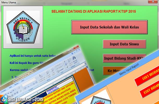 Aplikasi Raport KTSP dengan Microsoft Excel Download Gratis