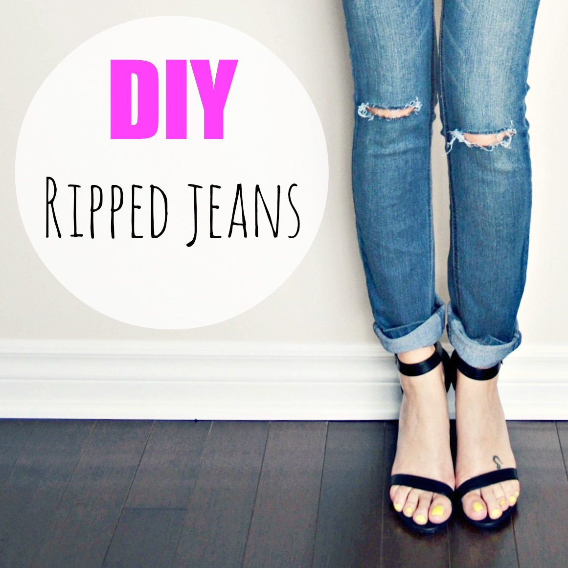 Diy Ripped Knee Jeans | www.imgkid.com - The Image Kid Has It!