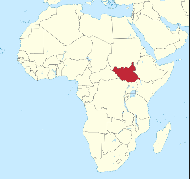 The penny post 1000 left to fundraise my south sudan trip for reference here is a map of africa highlighting south sudans location gumiabroncs Choice Image