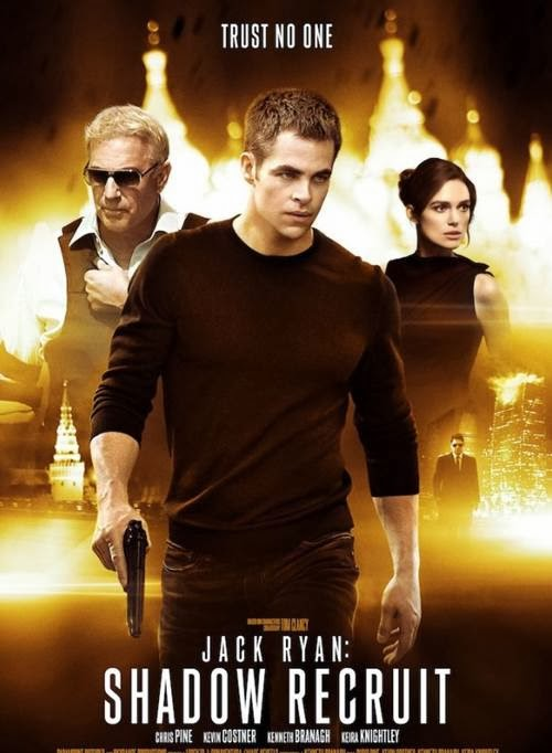 Jack Ryan: Shadow Recruit starring Chris Pine and Kevin Costner