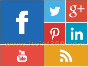Social Profile Widget Blogspot Style UI