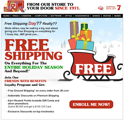 Click to view this Dec. 16, 2011 J&R email full-sized