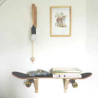 ondeugende spruit DIY skateboard lamp boekenplank