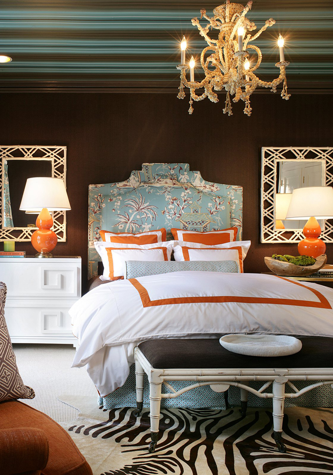 Cottage modern an accidental favorite turquoise orange for Aqua bedroom ideas