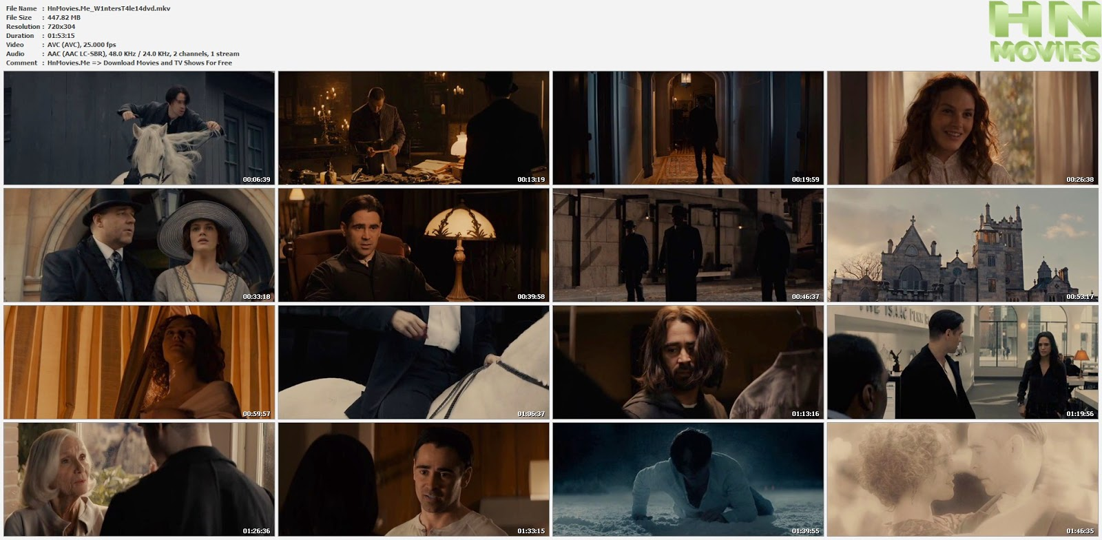 Winter's Tale (2014) DVDRip 450MB
