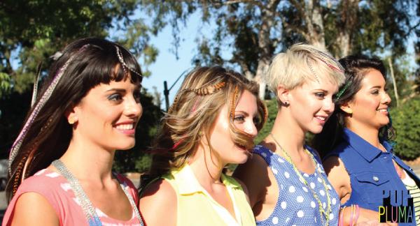 Pop Pluma - penas hollywoodianas coloridas - cabelo - penteado - sorteio