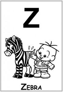 alfabeto turma da monica  baby letra z