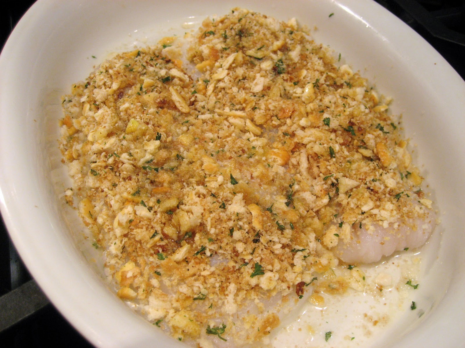 Baked Haddock ready for the oven.