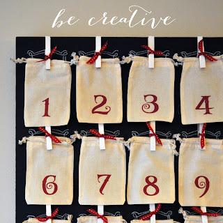 holiday countdown tutorial on Creative Bag's blog