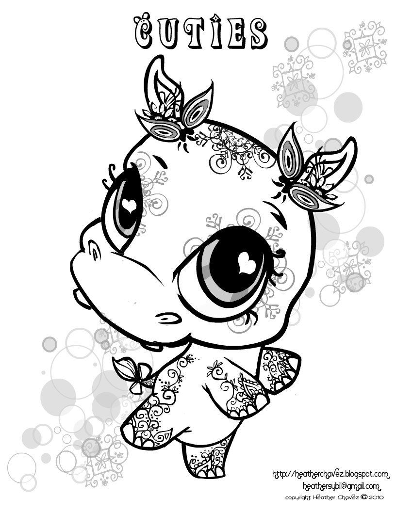 Quirky Artist Loft 39 Cuties 39 Free Animal Coloring Pages
