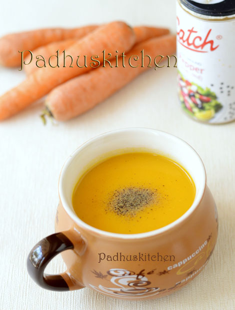Soup recipes indian soup recipes vegetarian padhuskitchen carrot ginger soup creamy soup recipes forumfinder Images