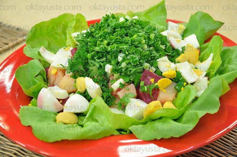 Pancarlı Kıbrıs Salatası Tarifi Kolay Yapımı