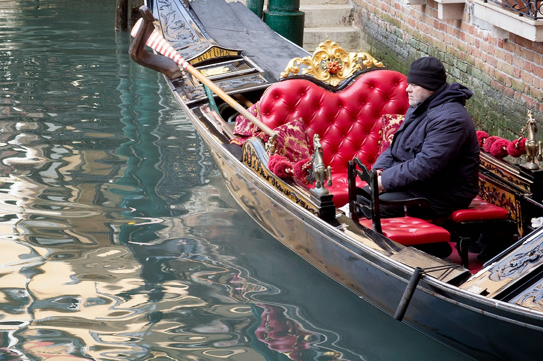 reflecting gondolier