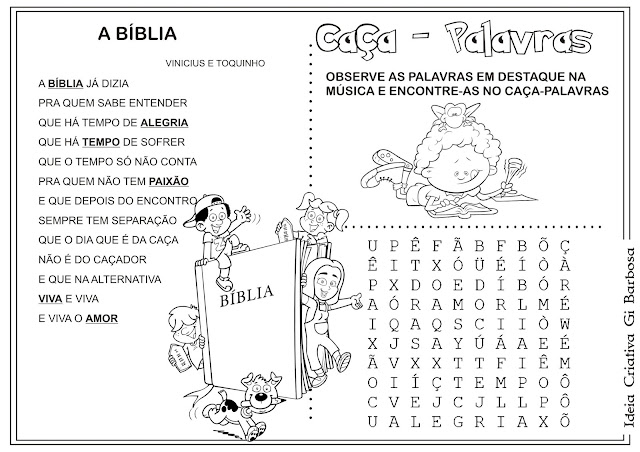 Caça -palavras Obra Vinicius de Moraes A Bíblia