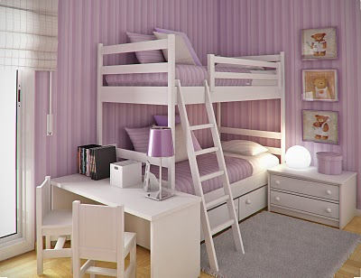 Simple and Minimalist Teen Bedroom Design by Sergi Mengot