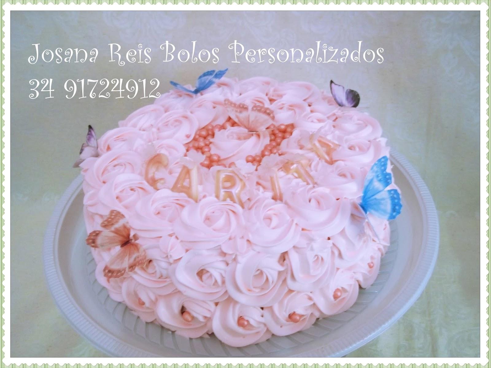 Josana reis confeitaria artstica bolo rosas em chantilly com bolo rosas em chantilly com borboletas altavistaventures Image collections