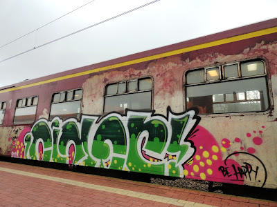 graffiti art on train